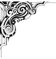Decorative corner ornament vector image vector image