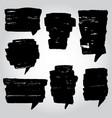 painter set of speech bubble vector image