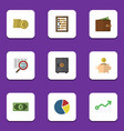 flat icon finance set of growth strongbox vector image