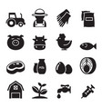 farm icons set vector image