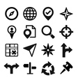 Map GPS and Navigation icons set vector image vector image