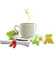 cap of tea vector image vector image