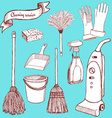 Sketch cleaning set vector image