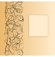 elegant background with floral pattern vector image