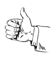 Gesture everything is fine thumb up business vector image