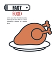hot chicken meat isolated icon design vector image