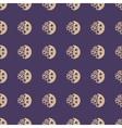 Moon and stars geometric seamless pattern vector image