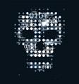 skull digital background vector image
