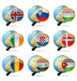 world flag icons vector image
