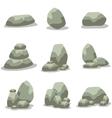 Rock set element of art vector image