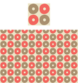 Circles Geometric Pattern Swatch vector image vector image