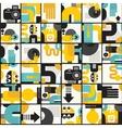 Photo man seamless pattern vector image