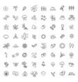 big natural icon set vector image vector image