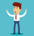 happy businessman design vector image