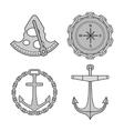 Set of nautical design elements vector image vector image