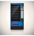 Vending Machine with shelves blue coloor vector image vector image