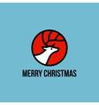 Christmas elk flat line icon vector image vector image