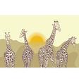 Giraffesinwalk vector image