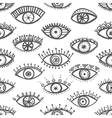 ethnic eyes seamless pattern white background vector image vector image