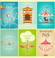Amusement Park posters vector image
