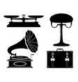 domestic appliances old retro vintage set icons vector image