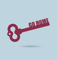 Go home House key Home key from door of apartment vector image
