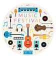 Music Instruments Objects Label vector image