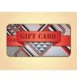 Retro stile abstract gift card vector image