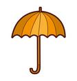 umbrella accessory isolated icon vector image