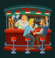 Cartoon of friends drinking whiskey vector image