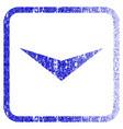 arrowhead down framed textured icon vector image