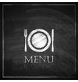 vintage with restaurant menu design on blackboard vector image