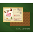 Vintage Christmas and Happy New year postcard vector image vector image