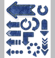 set of jeans arrows vector image vector image