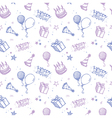 seamless birthday wallpaper vector image