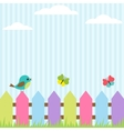 bird and butterflies vector image
