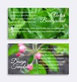 Blurred photos with spring tree and grass vector image