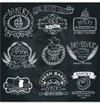 Vintage Bakery LabelsOutline hand sketchy vector image