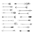 Arrow indian style set hand drawn vector image