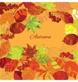 autumn leaves with text vector image