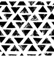 Black and white grunge print triangles geometric vector image