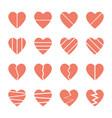 broken heart icons set vector image