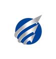 business finance arrow globe technology logo vector image