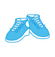 camping shoes isolated vector image