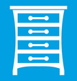 chest of drawers icon white vector image