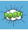 Poof pop art retro style vector image