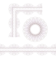Rosette border and corner vector image