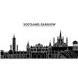 scotland glasgow city architecture city vector image