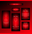 set of different sizes black and red framed vector image