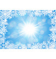 snowflake frame with background vector image